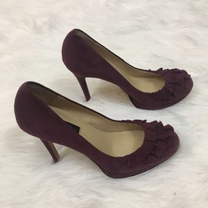 ⬇️$60 Ann Taylor suede/leather heels sz 5 1/2""